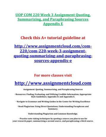 summarizing essay examples