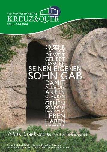 Gemeindebrief Kreuz&Quer März - Mai 2016
