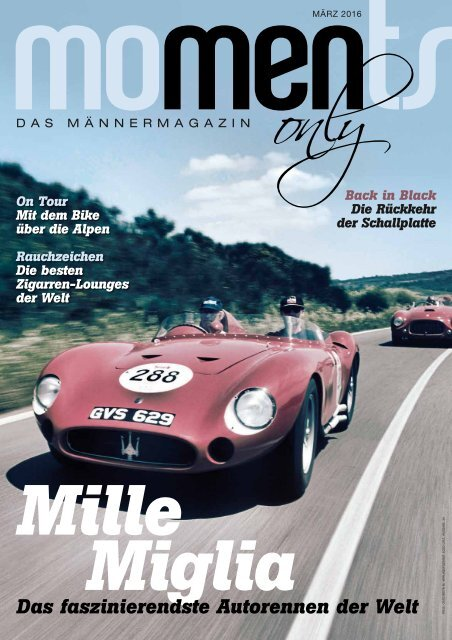 moments - men only - Das Männermagazin