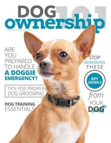 Dog Ownership 101 - January/February 2016