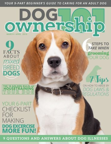Dog Ownership 101 - March/April 2016