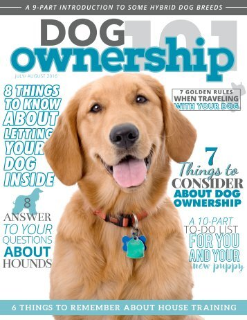 Dog Ownership 101 - July/August 2016