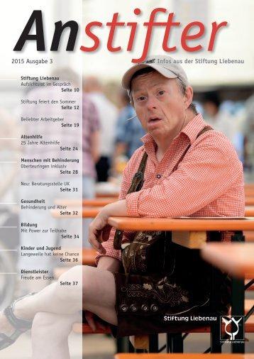 Anstifter 3, 2015 der Stiftung Liebenau