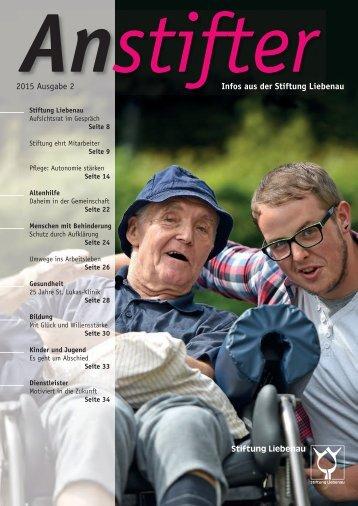 Anstifter 2, 2015 der Stiftung Liebenau