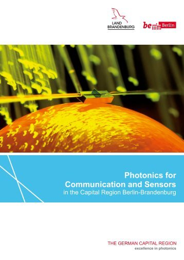 Photonics for Communication and Sensors in the Capital Region Berlin-Brandenburg