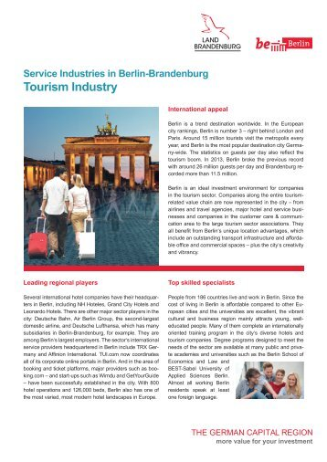 Service Industries in Berlin: Tourism