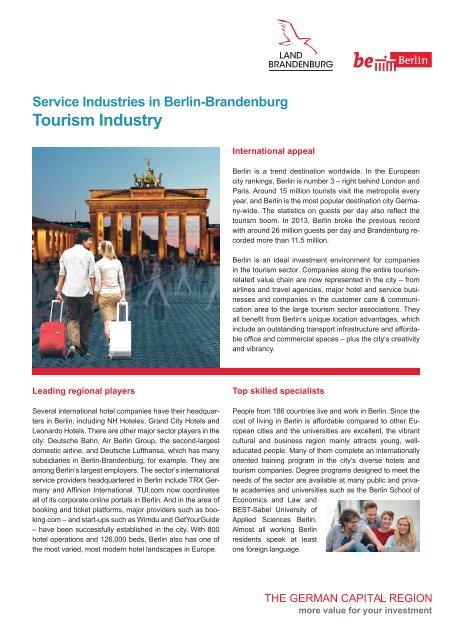 Service Industries in Berlin: Tourism