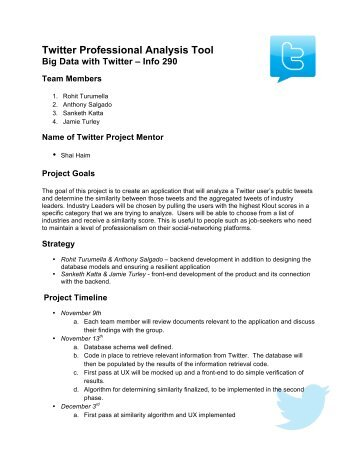 Twitter Professional Analysis Tool - ICTD Research @ I School