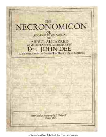 Necronomicon: The Book of the Laws of the Dead (color)