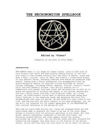 The Necronomicon Spell Book