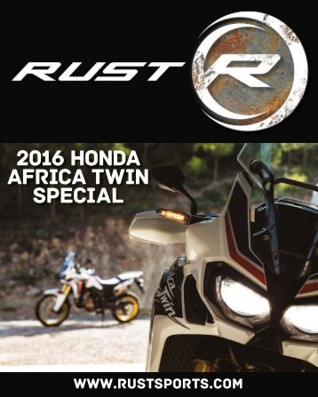 RUST magazine: 2016 Honda Africa Twin Special