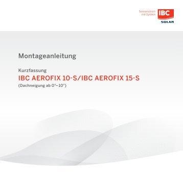 Montage IBC AeroFix 15-S / 10-S - Flachdach Montagelösung mit Südausrichtung