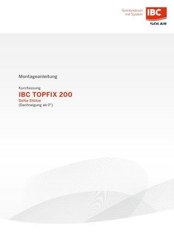 Montage IBC TopFix 200 - Delta-Stütze