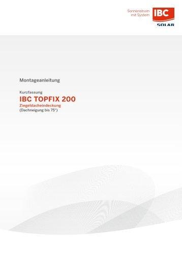 Montage IBC TopFix 200 - Lösung für Ziegeldacheindeckung