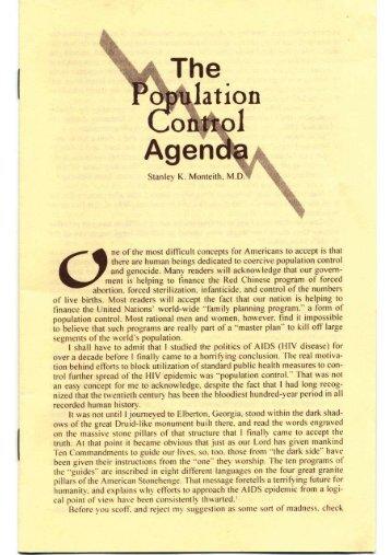 Population Control Agenda