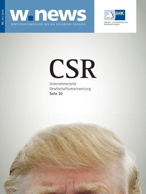 CSR – Unternehmerische Gesellschaftsverantwortung | w.news 04.2016