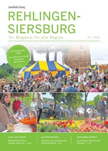 Gemeindemagazin Rehlingen Siersburg 01|2016