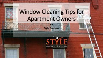 how to clean apartment windows