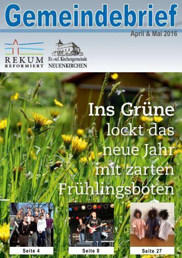 Gemeindebrief April & Mai 2016