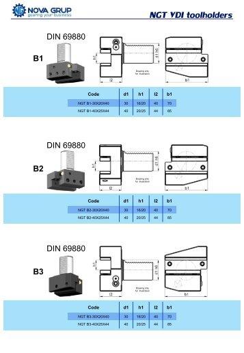 NGT VDI toolholders