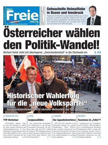 Österreicher wählen den Politik-Wandel
