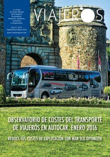 Observatorio de costes del transporte de viajeros en autocar