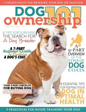 Dog Ownership 101 - May/June 2016