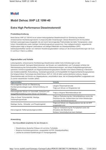 Delvac XHP LE 10-40