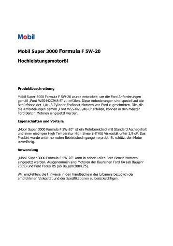 Super 3000 Formula F 5W-20