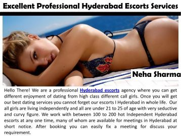Excellent Professional Hyderabad Escorts Services