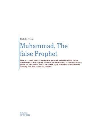 Muhammad the false Prophet