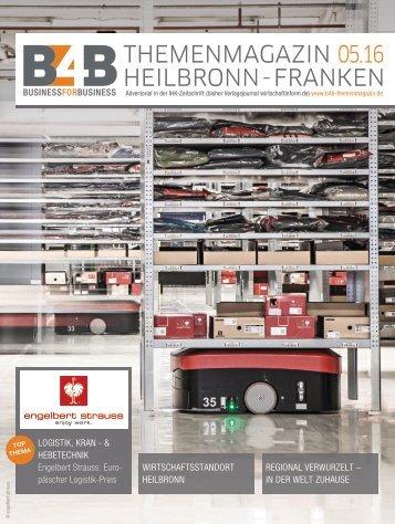 LOGISTIK, KRAN- & HEBETECHNIK | B4B Themenmagazin 05.2016