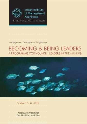 Brochure - Indian Institute of Management Kozhikode