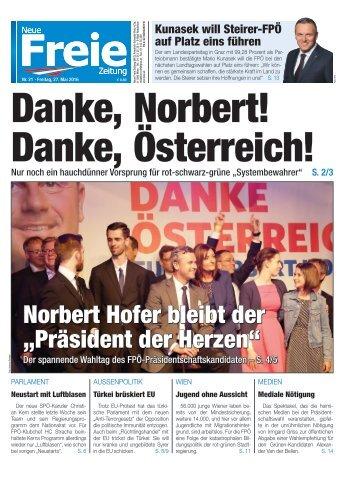 Danke, Norbert! Danke, Österreich!