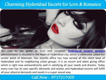 Charming Hyderabad Escorts for Love & Romance