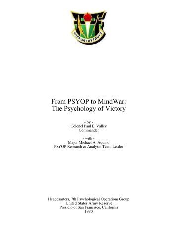 From PSYOP to MindWar