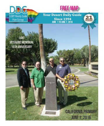 June 1st 2016 THIS WEEK!  The official guide to Gay Palm Springs for 21 years.