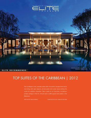 TOP SUITES OF THE CARIBBEAN | 2012 - Elite Traveler