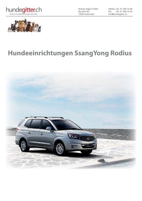 SsangYong_Rodius_Hundeeinrichtungen
