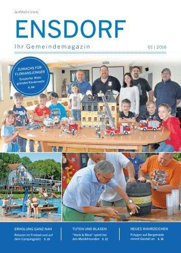 Gemeindemagazin Ensdorf 01|2016