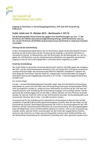 Zugang zu Gerichten in Umweltangelegenheiten, UVP und UVP-Vorprüfung, Präklusion