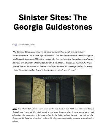 Sinister Sites The Georgia Guidestones
