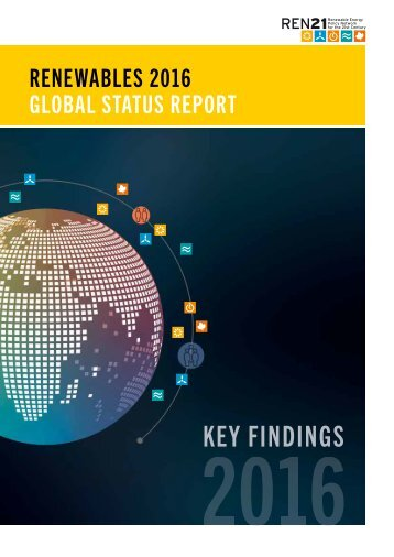 Global Status Report 2016 - Key Findings