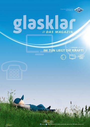 Glasklar - das Magazin von SAKnet, Juni 2016