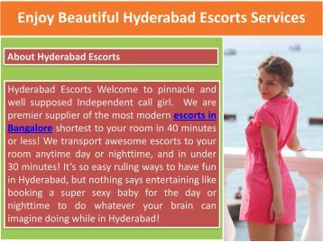 Enjoy Beautiful Hyderabad Escorts Services