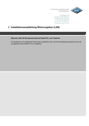 Installationsempfehlung Wohnungsbau (LAN)