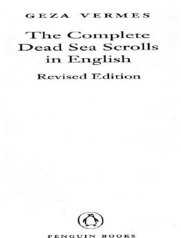 The Dead Sea Scrolls [Complete English Translation]