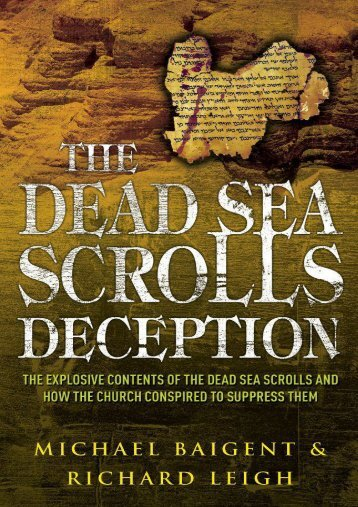 The Dead Sea Scrolls Deception - Baigent & Leigh
