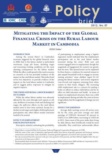 impact of global recession and financial The financial crisis that began in the us in the year 2007 became a full-scale crisis in the year 2008 and 2009 which, in turn, affected each and every economy.