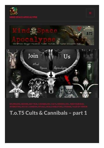 Cults & Cannibals 1